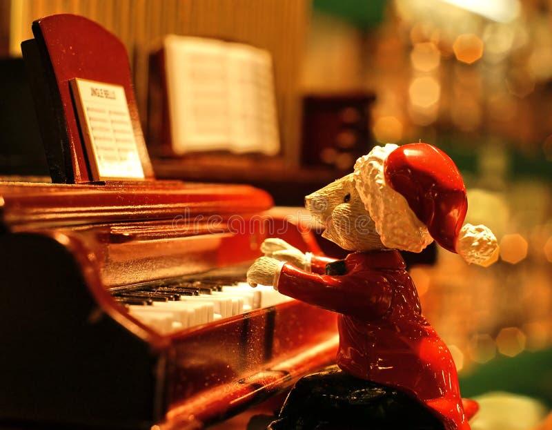 Singt Klaviersänger lizenzfreie stockfotos
