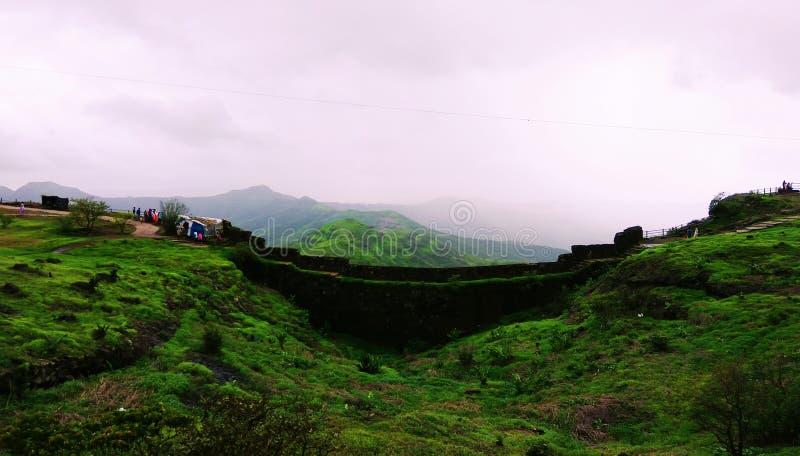 Sinhagad fort, Pune fotografia stock