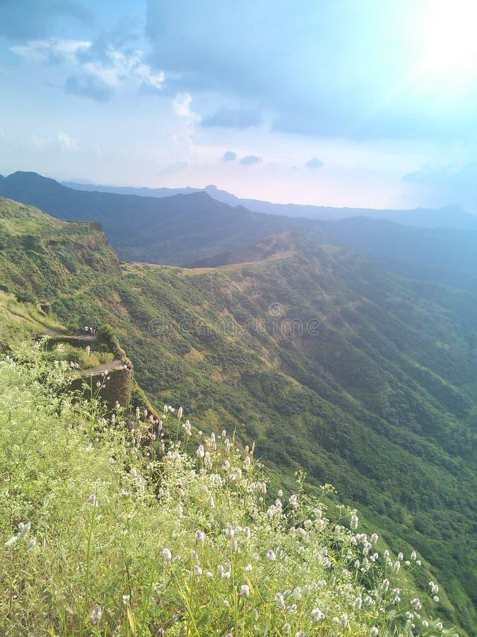 Sinhagad Fort View stock image