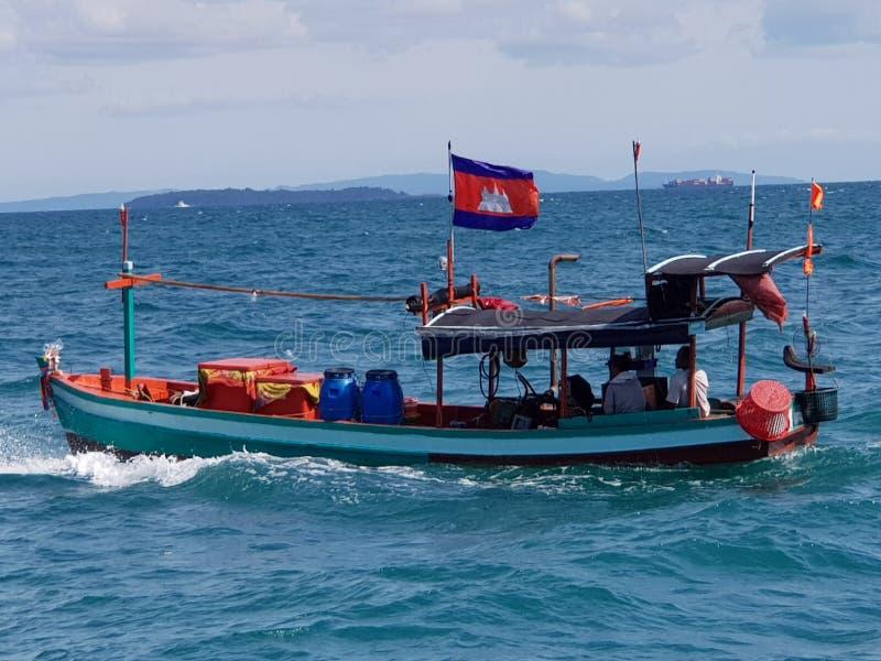 Sinhanoukville łódź fotografia stock