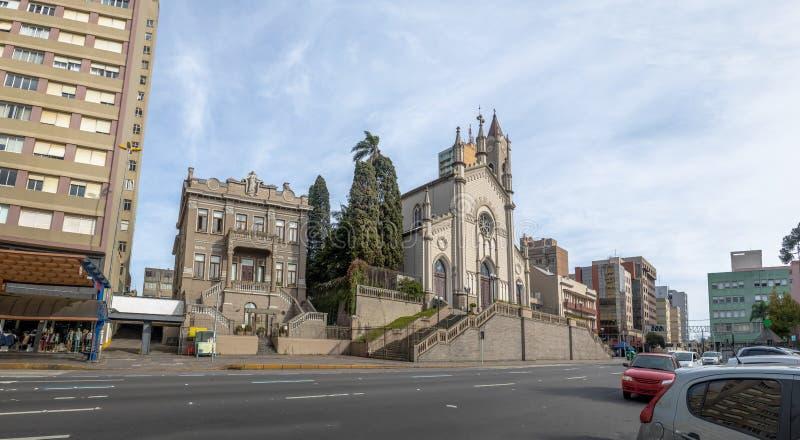 Sinimbu街和圣诞老人特里萨D `阿维拉大教堂-南卡希亚斯,南里奥格兰德州,巴西 库存照片