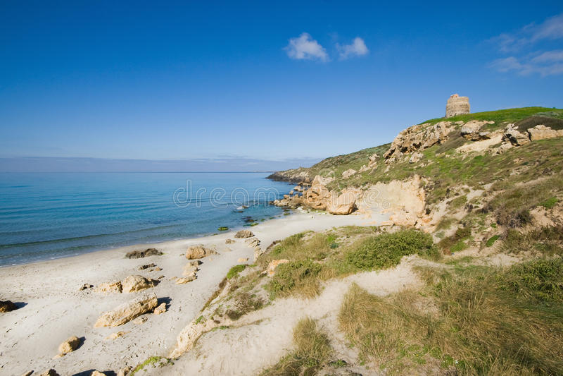 Sinis半岛,撒丁岛(意大利) 库存照片