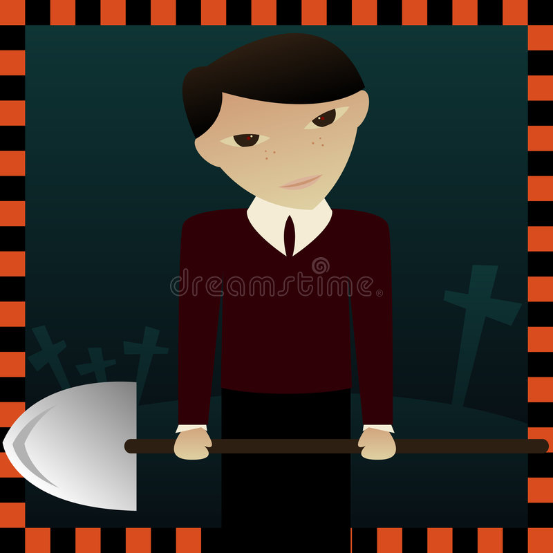 Download Sinister Seth stock illustration. Image of grave, scary - 818248
