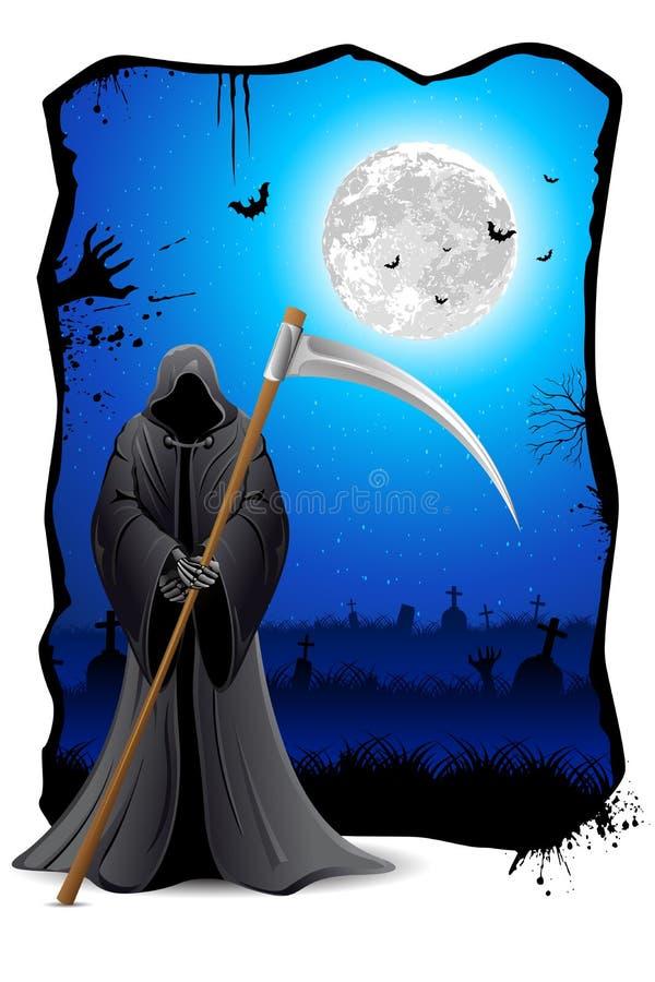 Sinistre avec l'épée illustration de vecteur