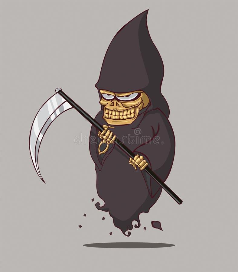 Sinistre. La mort Halloween illustration libre de droits