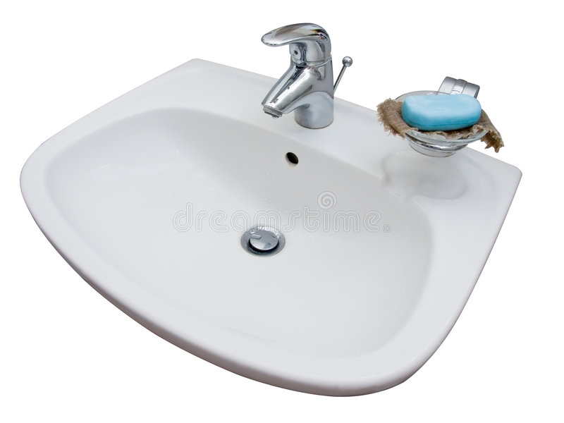 Sink. White sink with clipping path