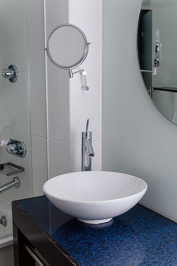Sink bathroom bowl mirror clean contemporary royalty free stock photos