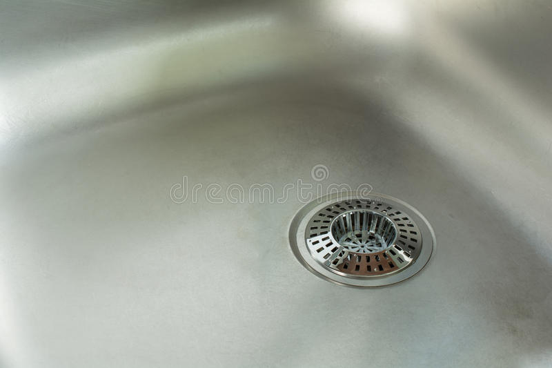 A Sink With Chrome Drain Strainer / Sink Strainer. Sink With Chrome Drain Strainer / Sink Strainer royalty free stock photography