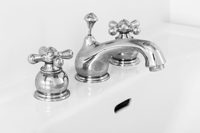 Sink faucet royalty free stock images
