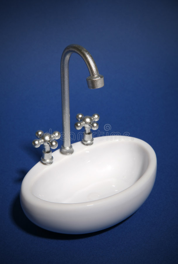 Sink (Focus on Nozzle) royalty free stock image