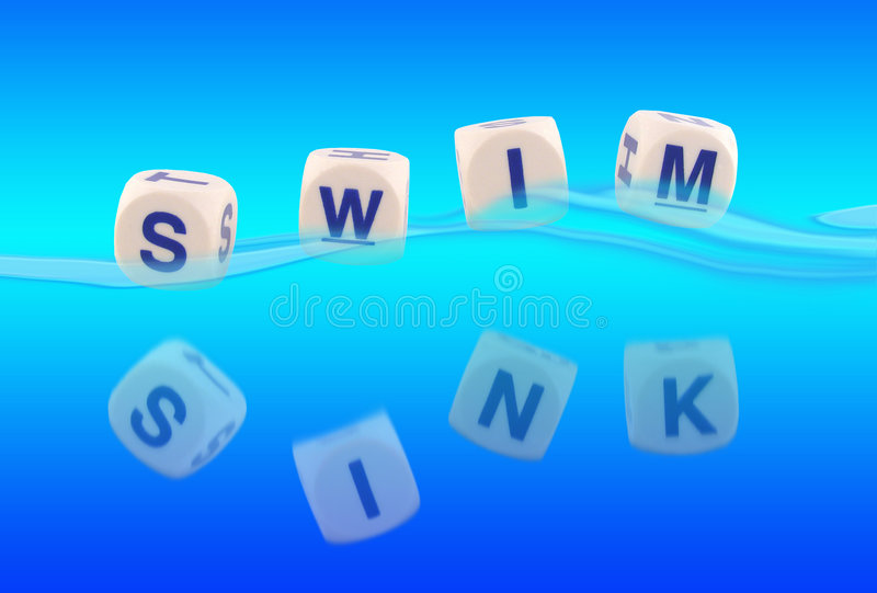Sink Or Swim royalty free stock photos