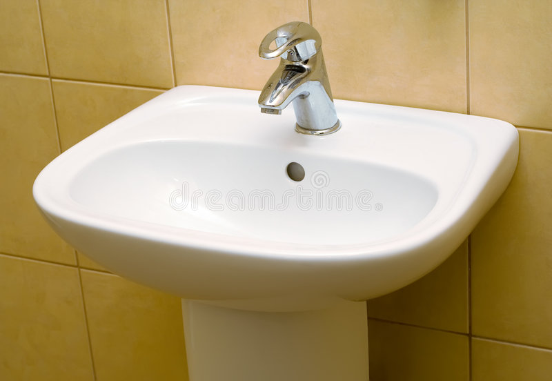 Sink in the WC stock photos