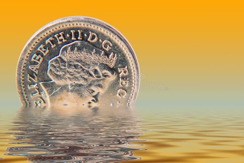 Sinkendes Pound stock abbildung