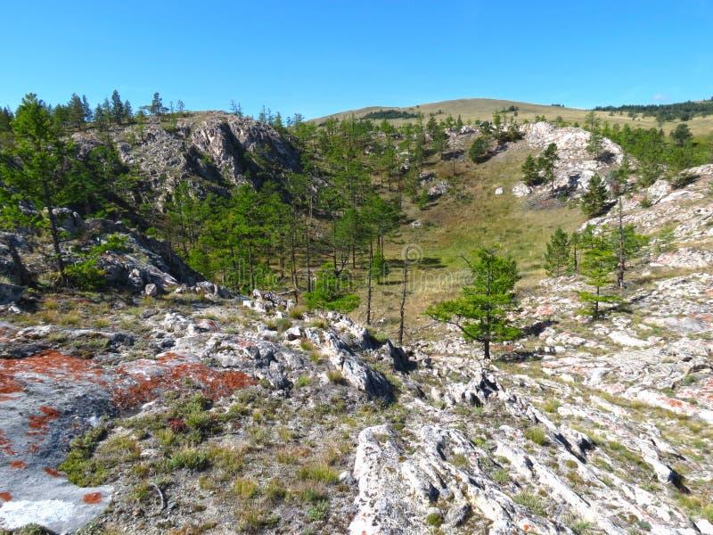 Sinkhole no Lago Baikal foto de stock
