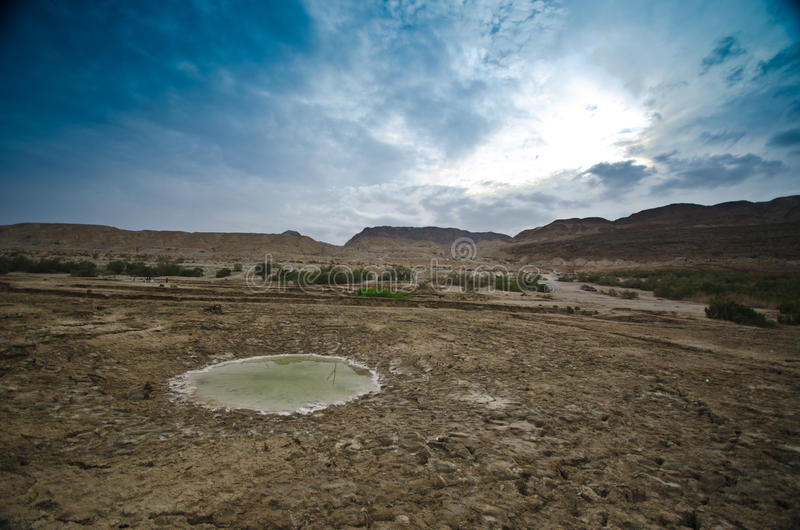 Sinkholes in the desert royalty free stock images