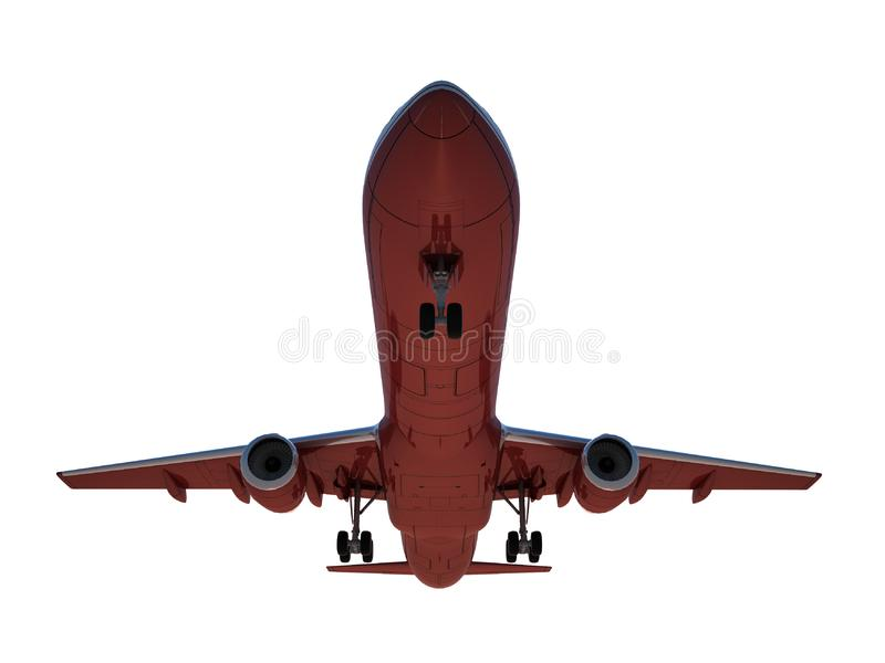 Download Sinking aircraft landing stock illustration. Illustration of aviation - 18121495