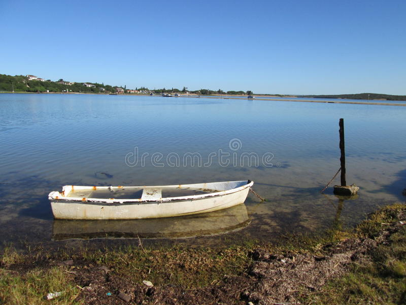 Sinking Boat. royalty free stock photography
