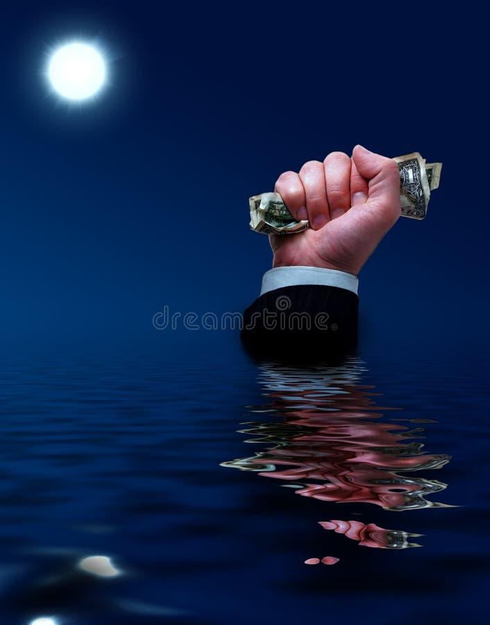 Sinking businessman