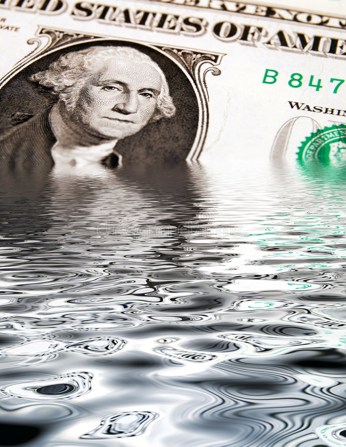 Download Sinking Dollar stock photo. Image of dollar, conceptual - 6922892