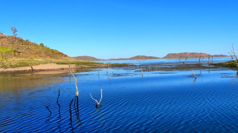 Sinking Forrest Lake Argyle the jewel of the Kimberley Western Australia royalty free stock image