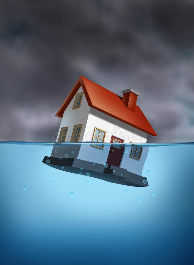 Download Sinking Home stock illustration. Image of house, drowning - 22806227