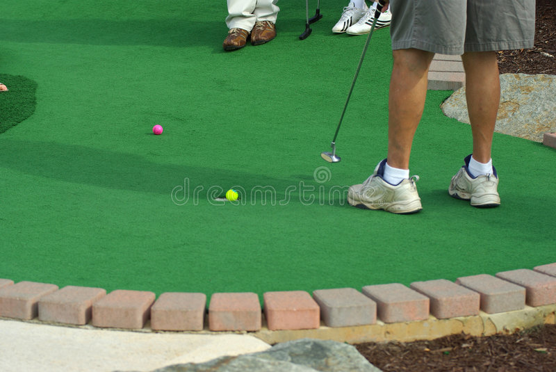 Download Sinking a Putt stock image. Image of grow, growing, course - 7086265