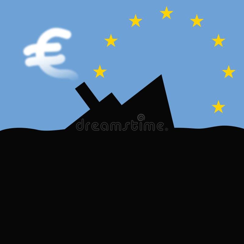 Free Sinking-ship-of-euro Stock Photography - 21739692