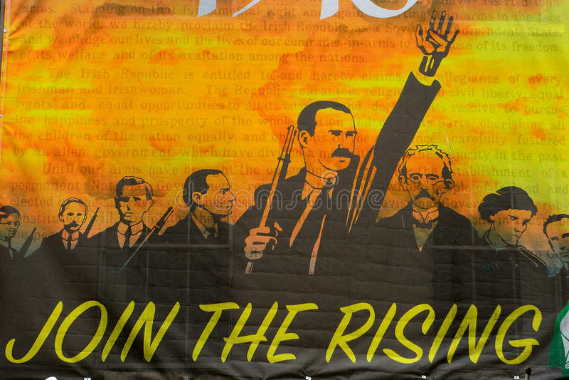 Sinn Fein propaganda, Dublin, Ireland. Sinn Fein propaganda in Dublin, Ireland royalty free stock photo