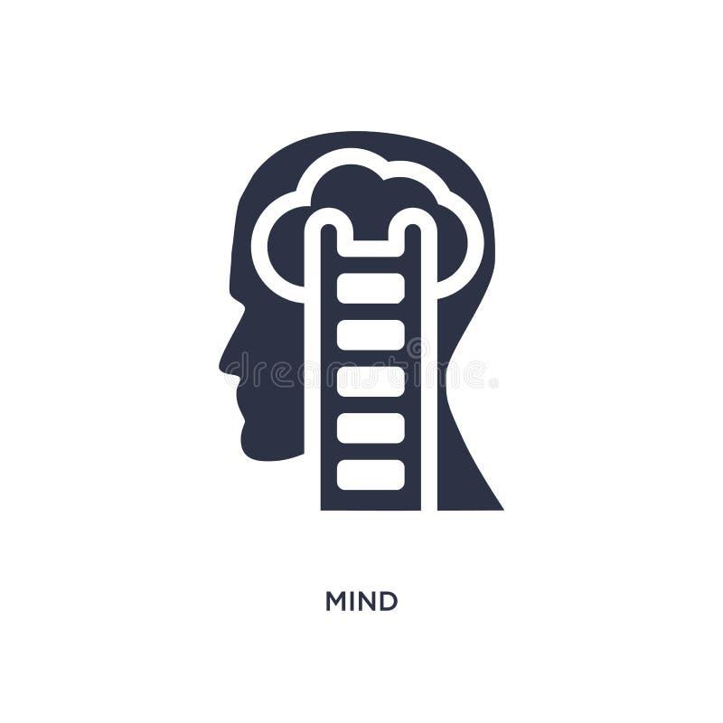 Sinnesikone auf weißem Hintergrund Einfache Elementillustration vom Gehirnprozesskonzept stock abbildung