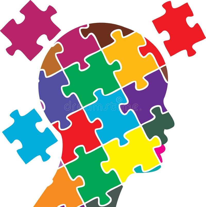 Sinnespuzzlespiel stock abbildung