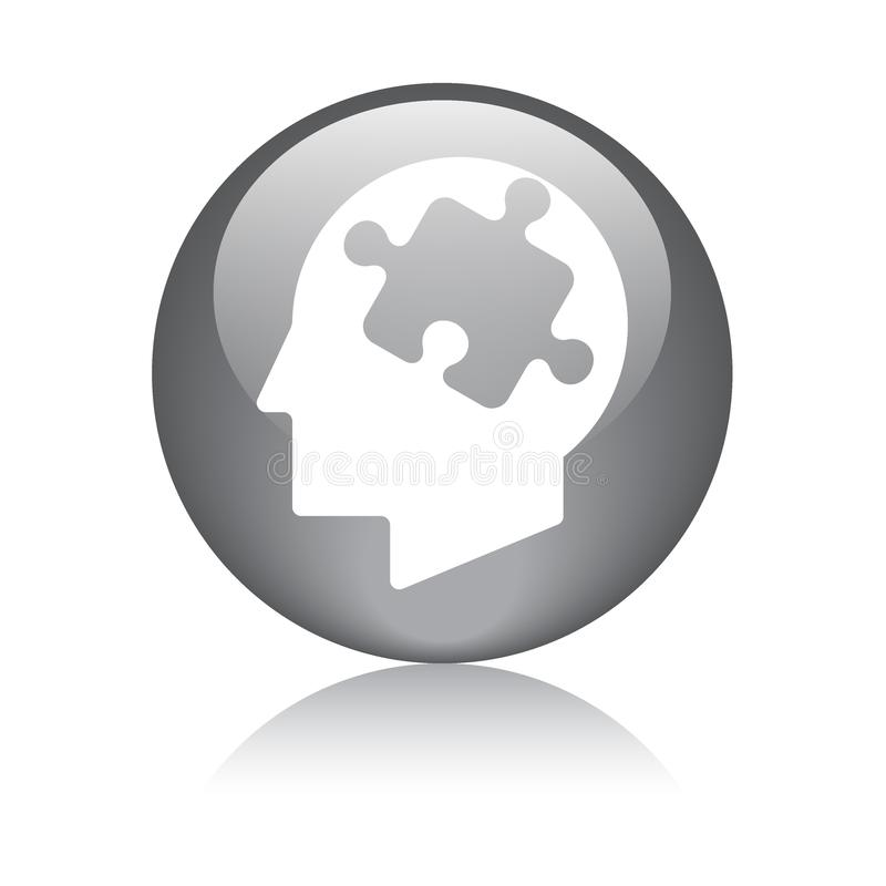 Sinnespuzzlespiel-Stückkopf vektor abbildung