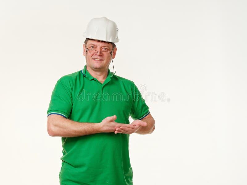 Sinnesrörelsemanordförande på en vit bakgrund royaltyfri foto