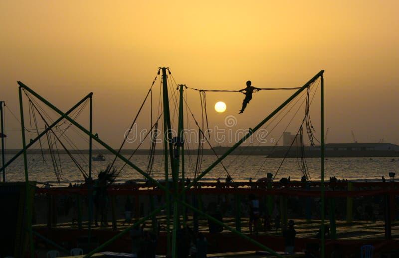 Sinnesrörelser på solnedgången fotografering för bildbyråer