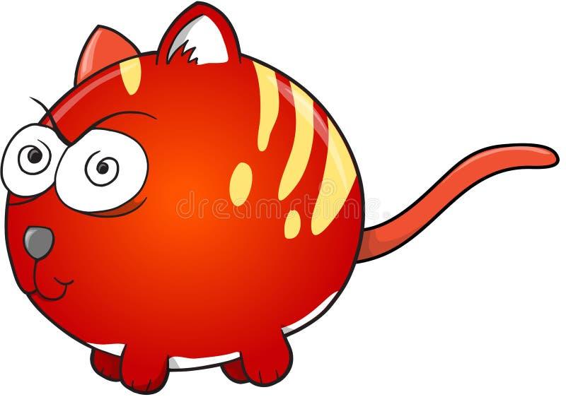 Sinnessjuka Cat Vector vektor illustrationer