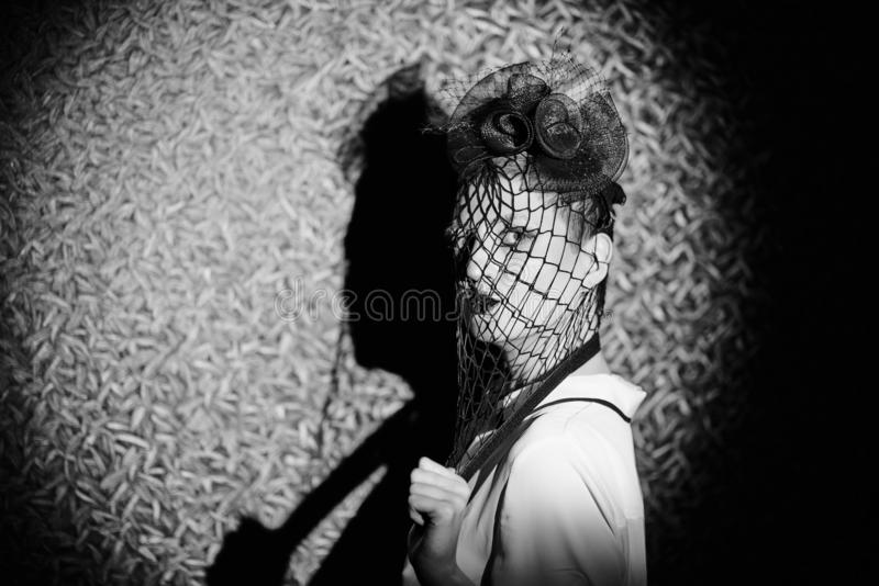 Sinnliches Portrait der jungen Frau stockbild