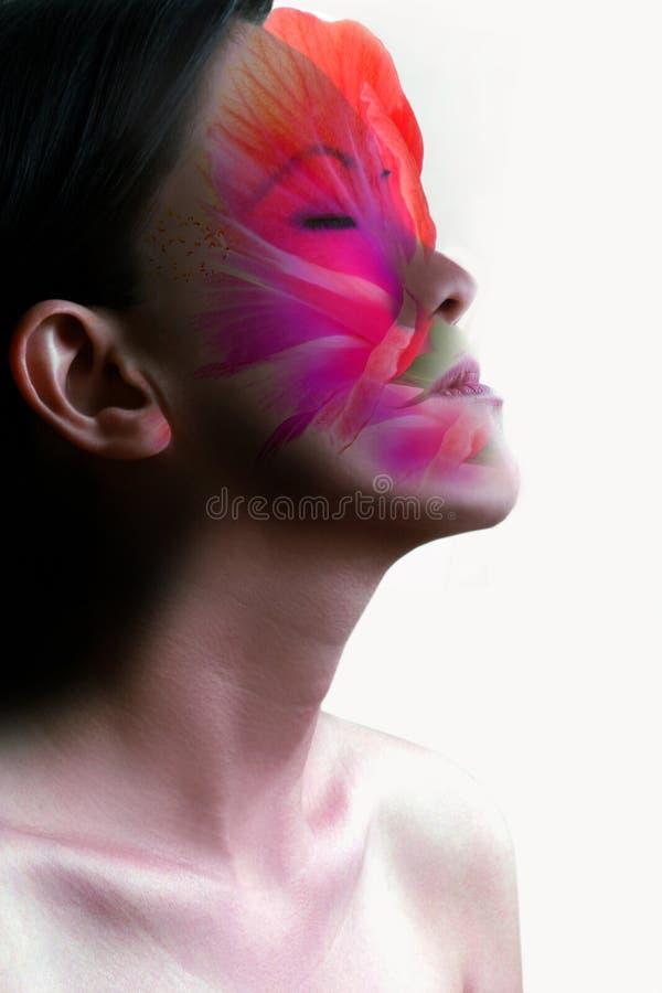 sinnlig skönhetmaskering arkivfoton