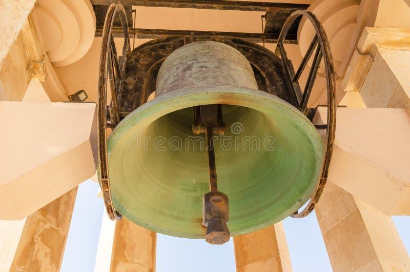 Sino de bronze Santa Maria em Valletta imagem de stock royalty free