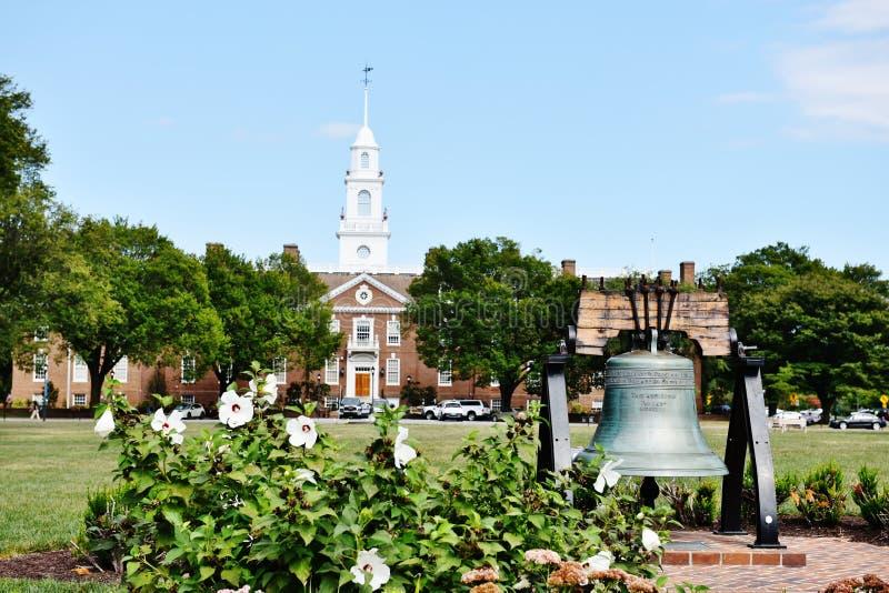 Sino de liberdade legislativo Dôvar do salão de Delaware fotografia de stock