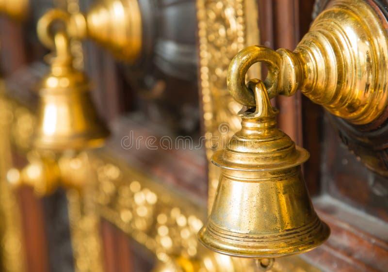 Sino de porta indiano do estilo do projeto do vintage fotografia de stock royalty free