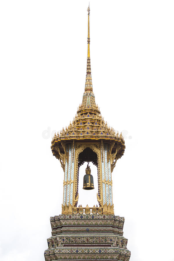 Sino do templo tailandês fotografia de stock royalty free