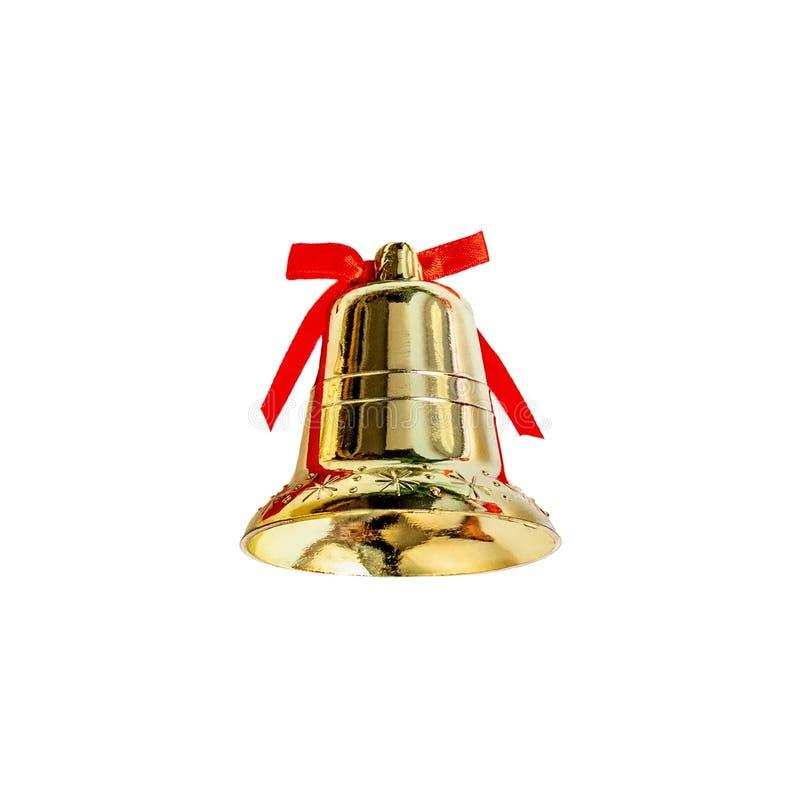 Sino do tinir Decoração do Natal isolada no fundo branco imagem de stock royalty free