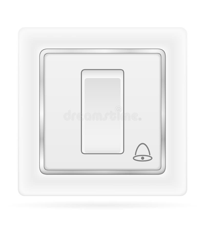 Sino elétrico do interruptor para a ilustração conservada em estoque do vetor da fiação interna da eletricidade ilustração stock