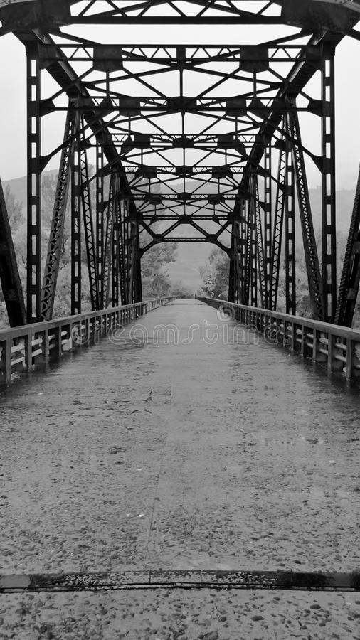 Sino koreanische Brücke stockfotografie