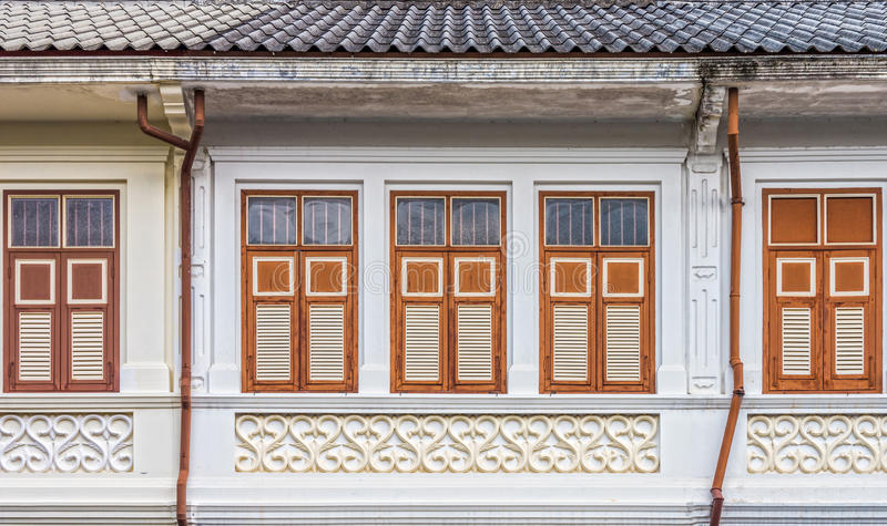 Sino-Portuguese αρχιτεκτονική πολλοί τα κτήρια στην πόλη Phuket στοκ φωτογραφία με δικαίωμα ελεύθερης χρήσης