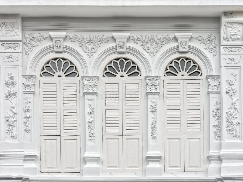 Sino-Portuguese αρχιτεκτονική πολλοί τα κτήρια στην πόλη Phuket στοκ φωτογραφία