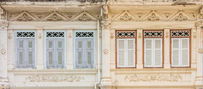 Sino-Portuguese αρχιτεκτονική πολλοί τα κτήρια στην πόλη Phuket στοκ εικόνες με δικαίωμα ελεύθερης χρήσης