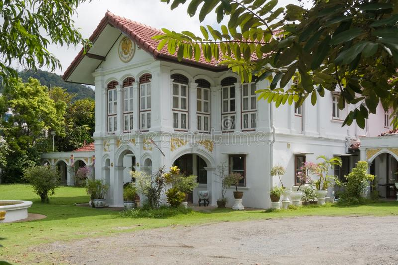 Sino Portuguese mansion architecture i. N old Phuket Town, Thailand royalty free stock images