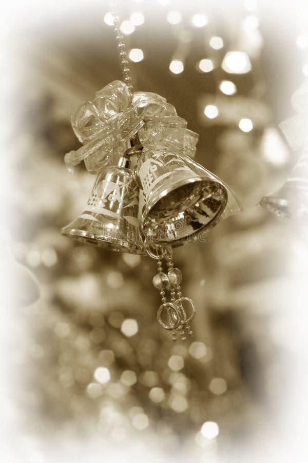 Sinos de tinir do Natal imagens de stock