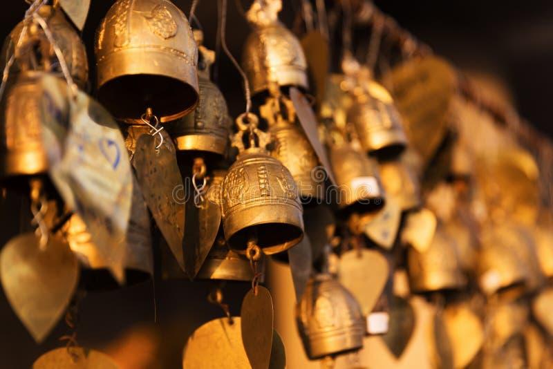 Sinos grandes famosos do desejo da Buda, Phuket, Tailândia imagens de stock royalty free