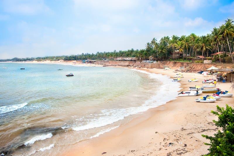 Sinquerim piękna tropikalna plaża obraz stock